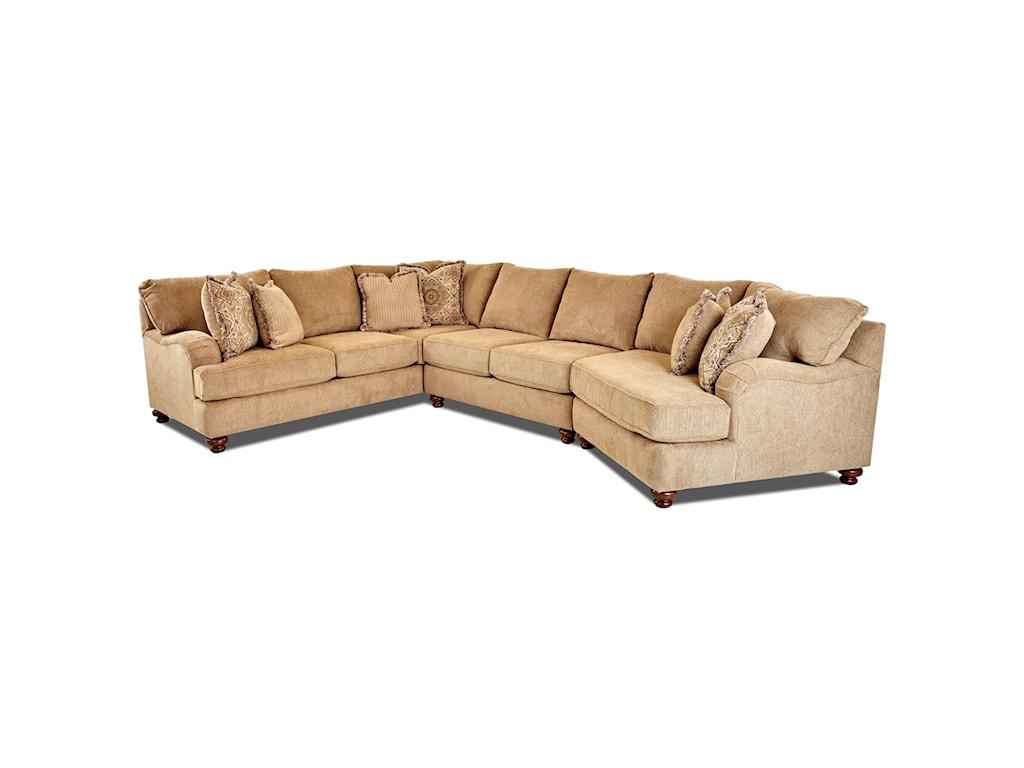 Klaussner Declan 3 Pc Sectional Sofa