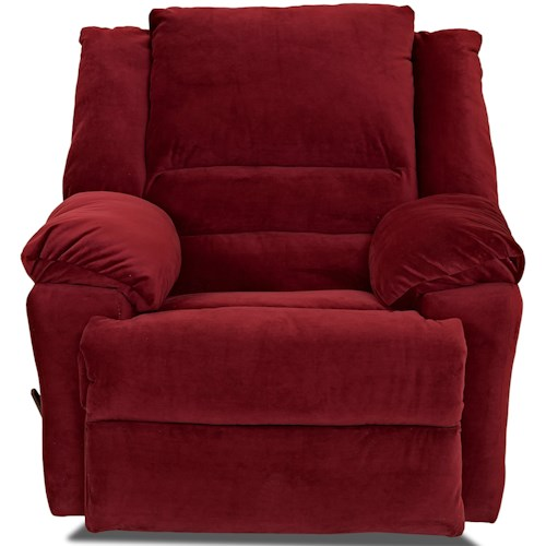 Klaussner Defender Casual Swivel Rocking Reclining Chair