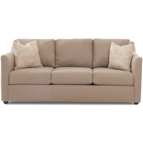 Klaussner Del Mar Contemporary Sofa with Flared Arms
