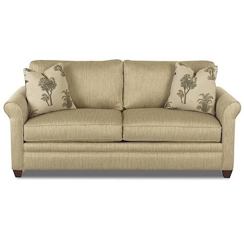 Klaussner Dopler Queen Sleeper Sofa with Air Coil Mattress