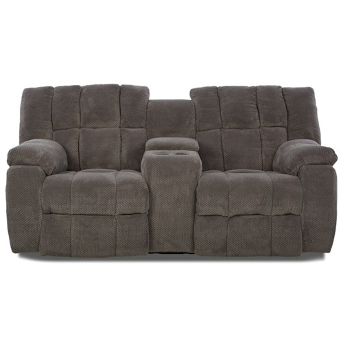 Klaussner Dozer Dozer Power Reclining Loveseat with Console