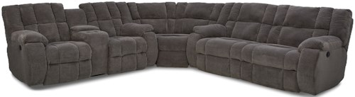 Klaussner Dozer Reclining Sectional with Console