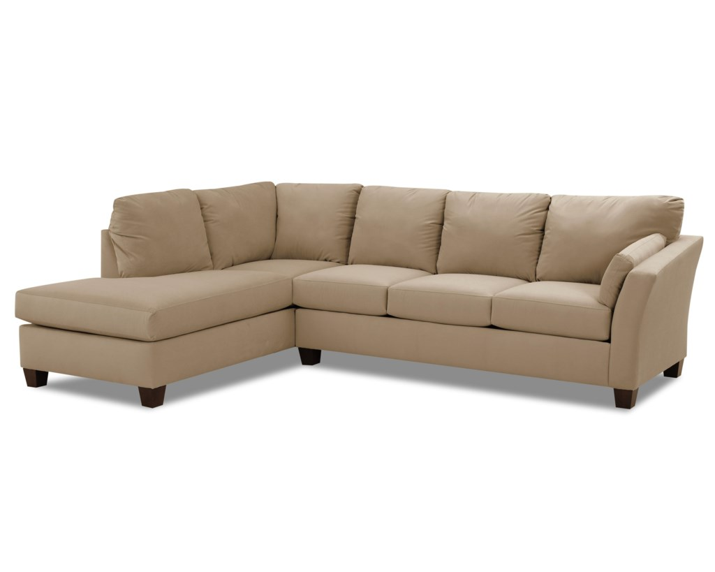 Klaussner Drew Two Piece Sectional Sofa With Chaise Value City