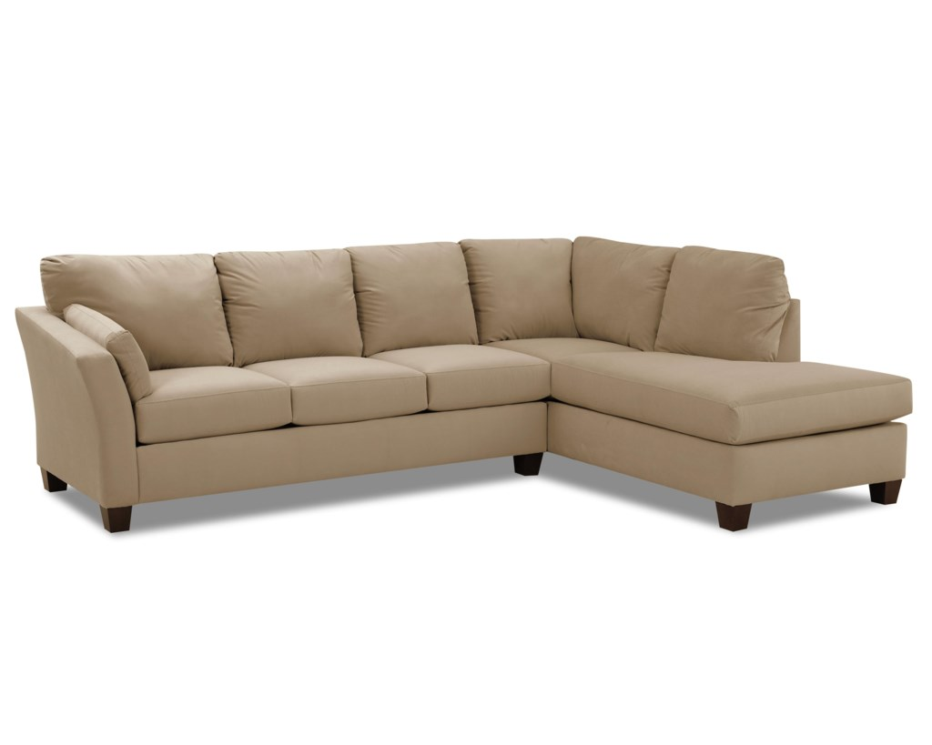 Klaussner Drew Two Piece Sectional Sofa With Chaise Hudson S