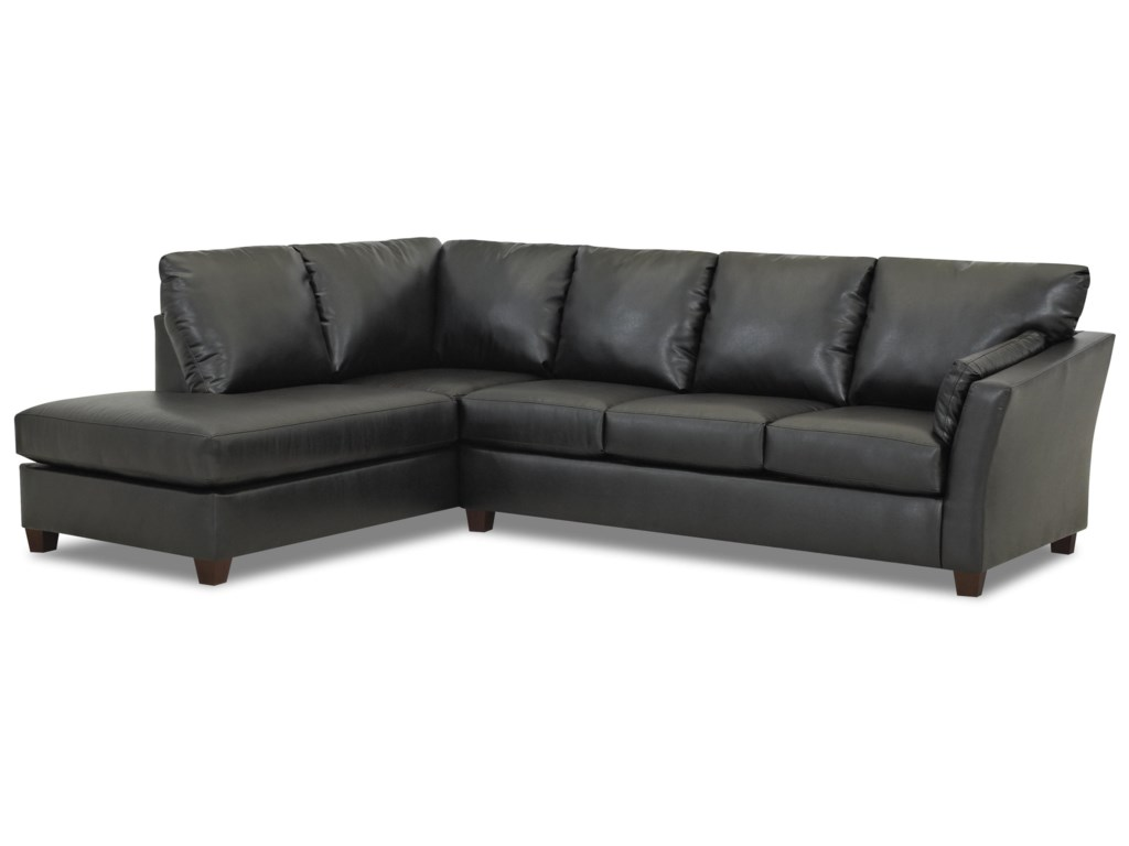 Klaussner Drew E16 Two Piece Sectional Sofa With Chaise