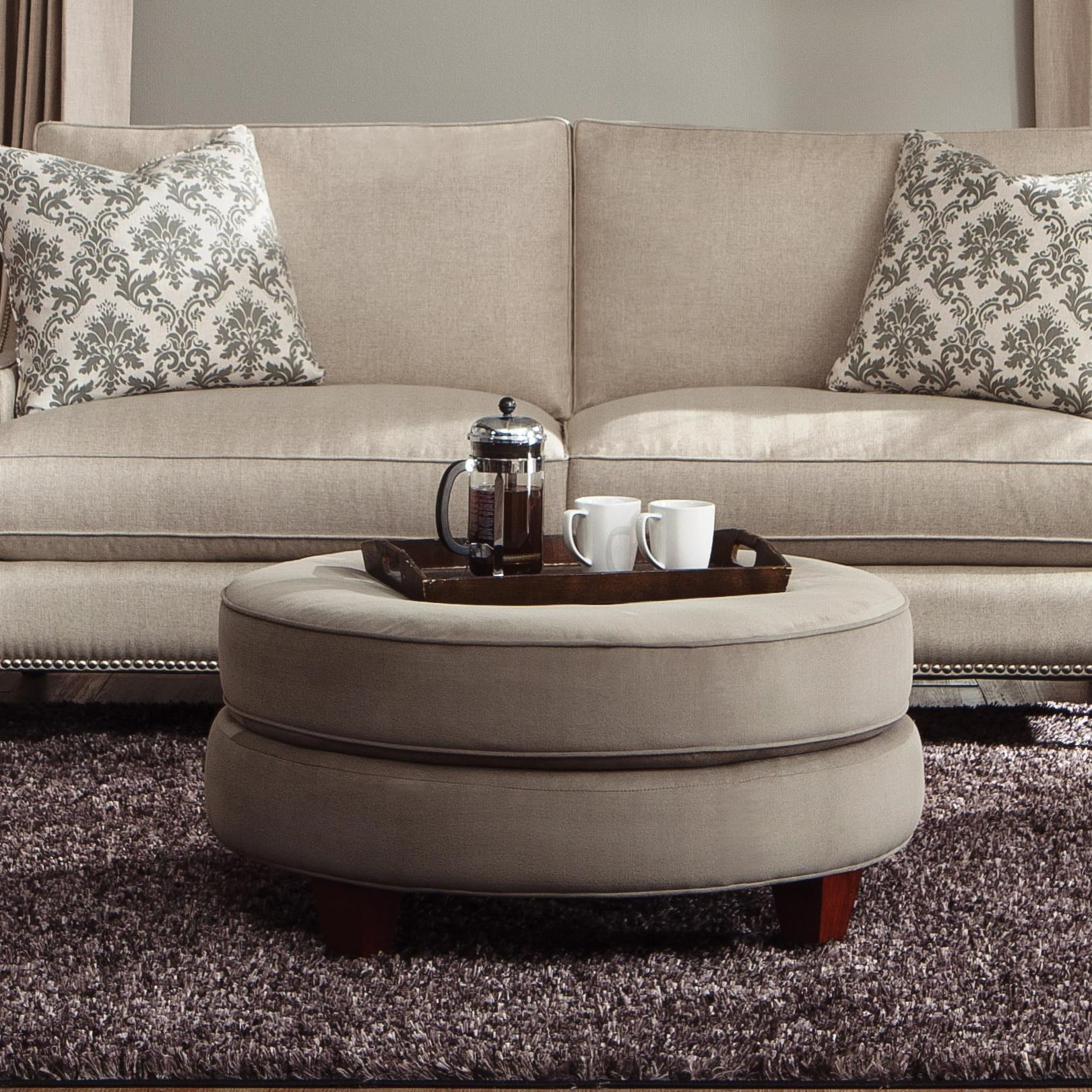 Exceptionnel Klaussner Duchess D40600 OTTO Transitional Double Disc Stacked Cushion  Ottoman | Pilgrim Furniture City | Ottomans