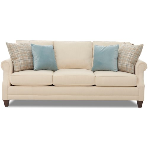 Klaussner Eden Transitional Sofa with Nailhead Trim