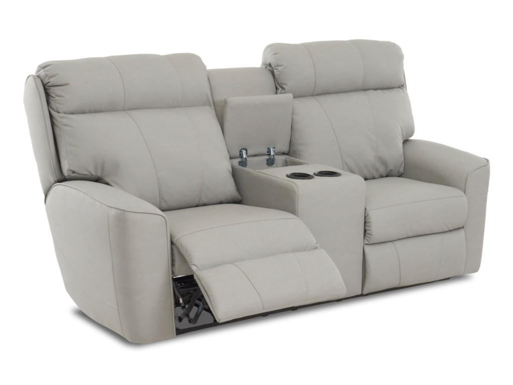 Klaussner ElaraPower Reclining LS w/console & Pwr Headrests