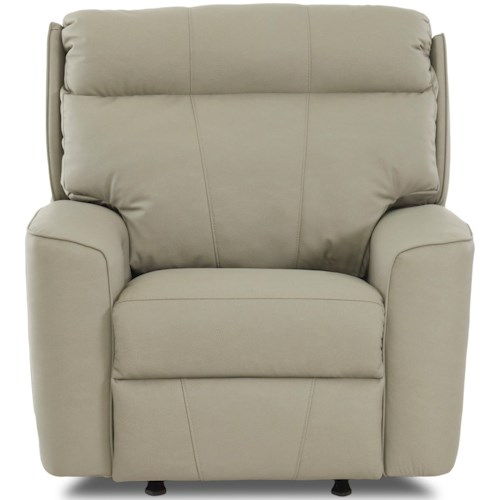 Klaussner Elara Casual Power Headrest/Lumbar Rocking Reclining Chair with USB Port and Bluetooth Capability