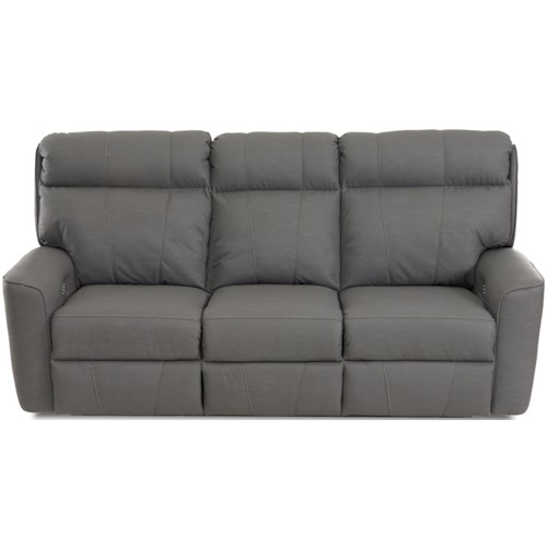 Klaussner Elara Casual Power Reclining Sofa with USB Charging Ports and Bluetooth Capability