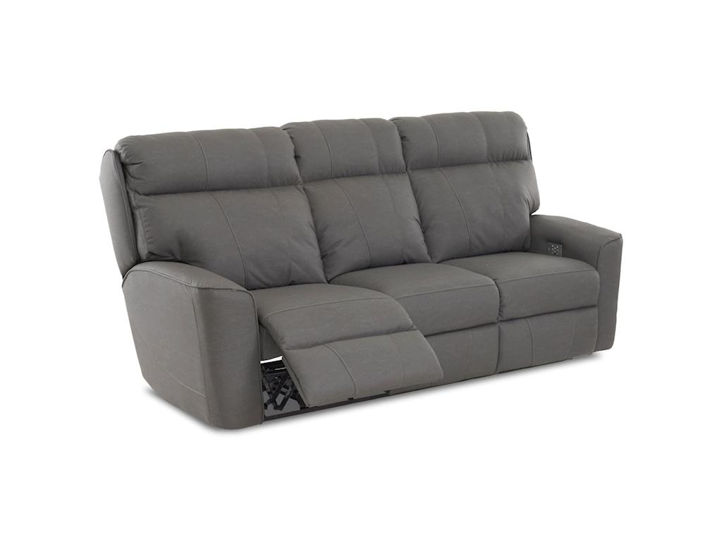 Klaussner ElaraPower Reclining Sofa w/ Pwr Head & Lumbar