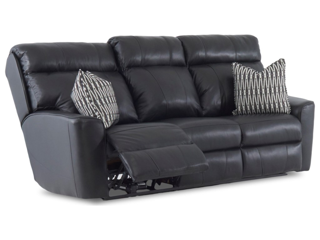 Klaussner ElaraPwr Reclining Sofa w/ Pillows & Pwr Head/Lum