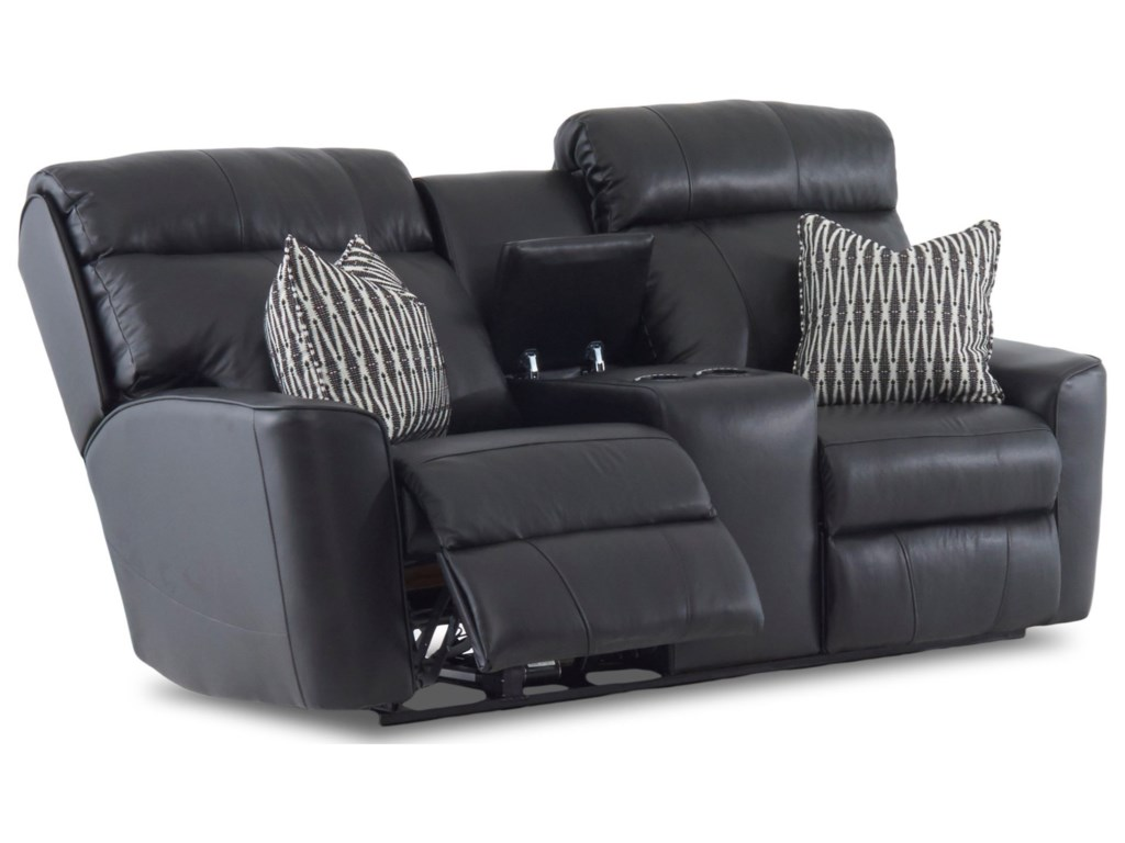 Klaussner ElaraPower Reclining LS w/console w/ Pillows