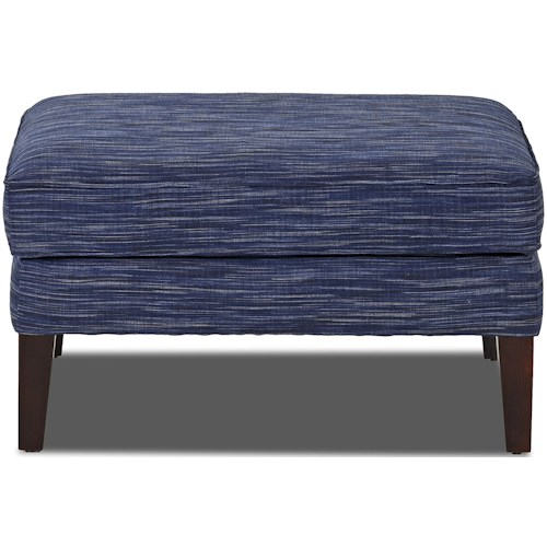 Trisha Yearwood Home Collection by Klaussner Elizabeth Traditional Style Rectangular Chair Ottoman