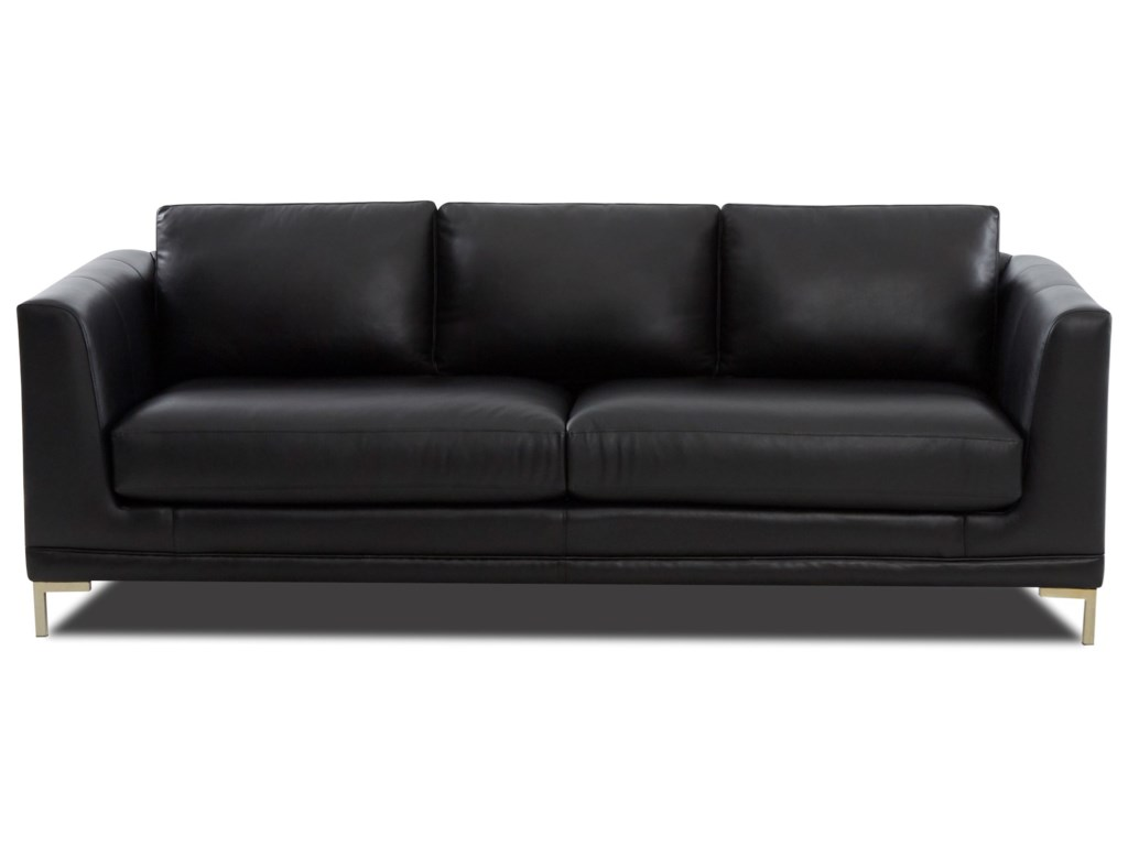 Ellis Contemporary Sofa With Metal Legs By Klaussner At Value City Furniture