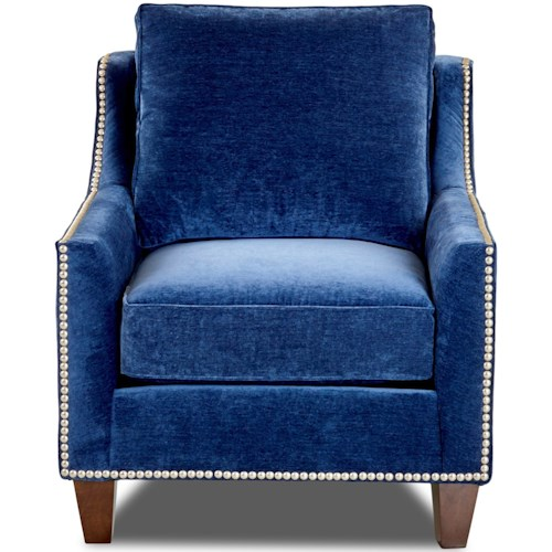 Klaussner Emmy Transitional Chair with Nailhead Trim