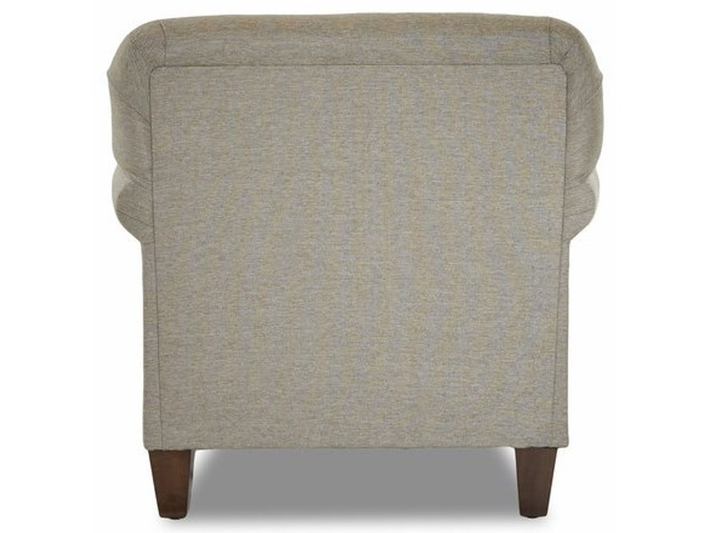 Emory Transitional Customizable Chair With Rolled Sock Arms By Klaussner At Pilgrim Furniture City