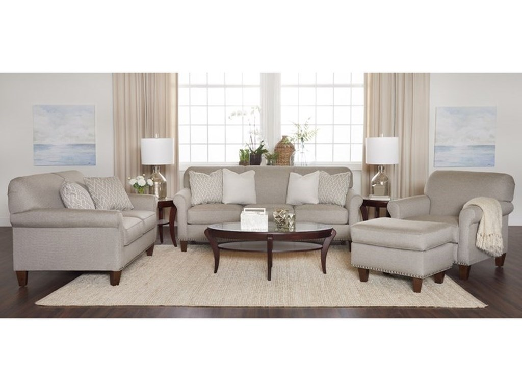 Klaussner EmoryTransitional Customizable Loveseat