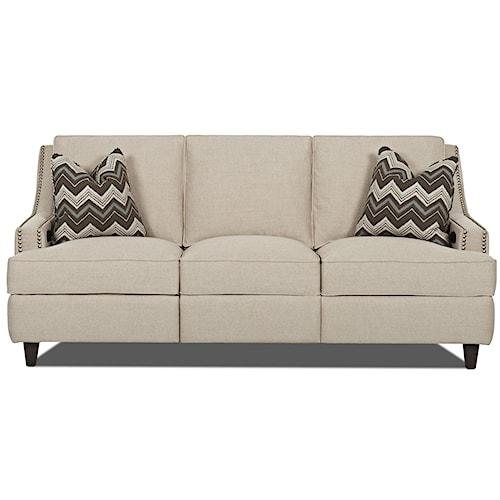 Klaussner Empress Transitional Power Hybrid Sofa