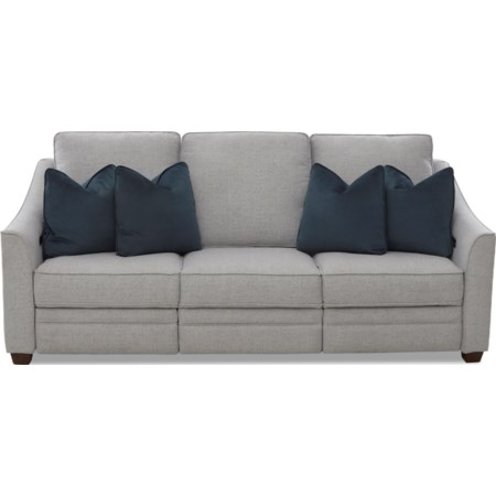 Power Hybrid Sofa w/ Pwr Hdrsts & Lumbar