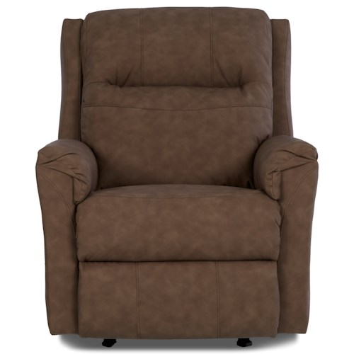 Klaussner Evans Power Recliner with Power Headrest and Lumbar Support