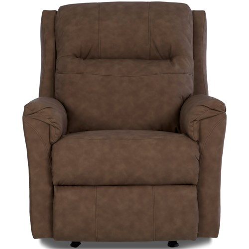Klaussner Evans Power Rocking Recliner with Power Headrest