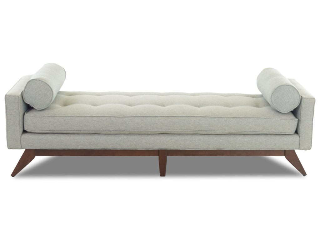 Klaussner Fairfax Mid Century Modern Backless Sofa Bench