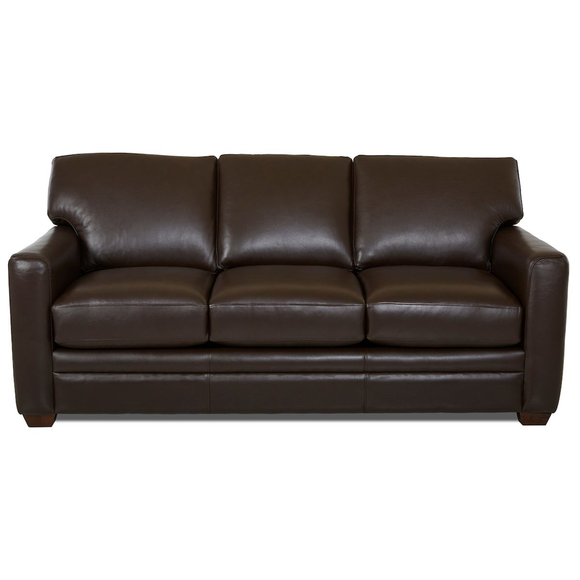 - Klaussner Fedora Queen Leather Sleeper Sofa With Enso Memory Foam
