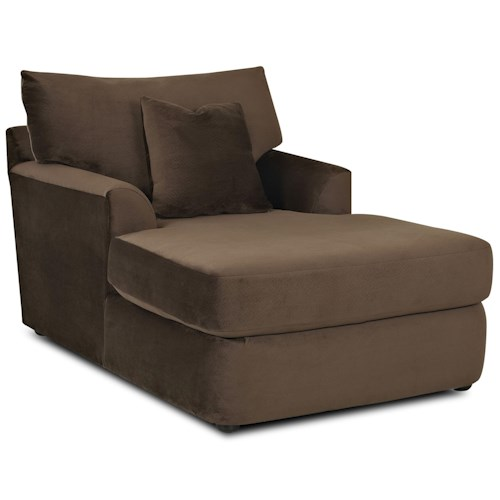 Klaussner findley contemporary chaise lounge pilgrim for Chaise lounge contemporary