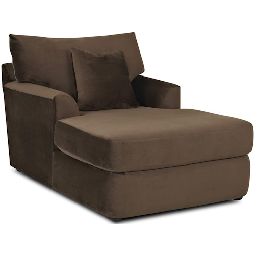 Klaussner Findley Contemporary Chaise Lounge