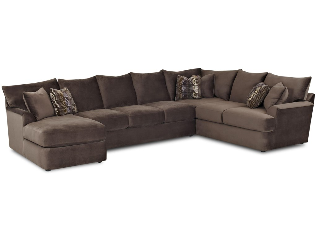 Findley L-Shaped Sectional Sofa with Left Chaise by Klaussner at Pilgrim  Furniture City