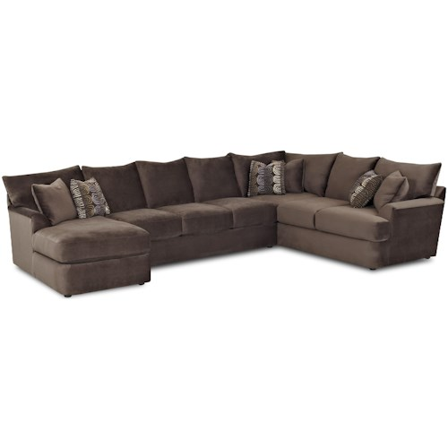 Klaussner Findley L-Shaped Sectional Sofa with Left Chaise