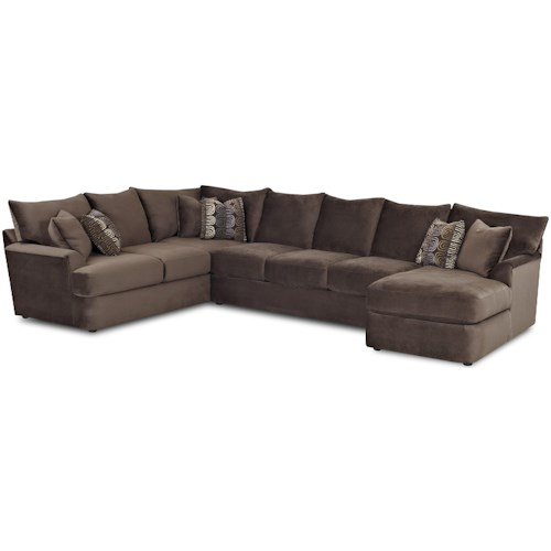 Klaussner Findley L-Shaped Sectional Sofa with Right Chaise