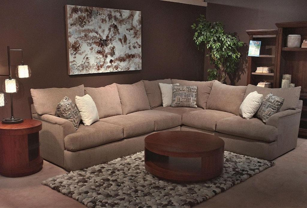 Shambala Contemporary L Shaped Sectional Sofa