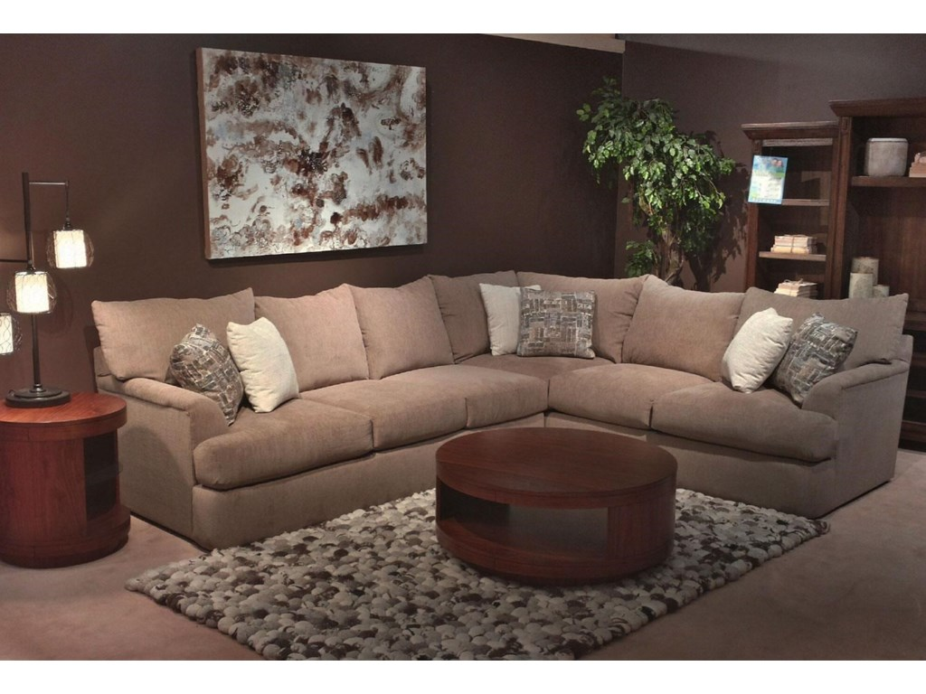 Shambala Contemporary L-Shaped Sectional Sofa | Rotmans | Sectional ...