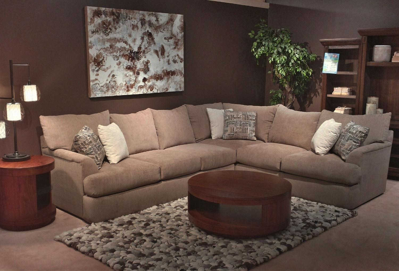 Simple Elegance Shambala Contemporary L Shaped Sectional Sofa
