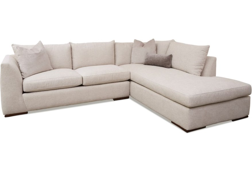 Klaussner Flagler D38000L LS+R SCHS-Lynn Stone Contemporary 2-Piece Chaise Sofa with RAF Sofa Chaise   Pilgrim Furniture City   Sectional Sofas