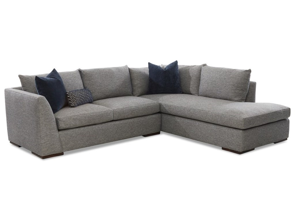 Klaussner Flagler2-Piece Sectional Sofa w/ RAF Sofa Chaise