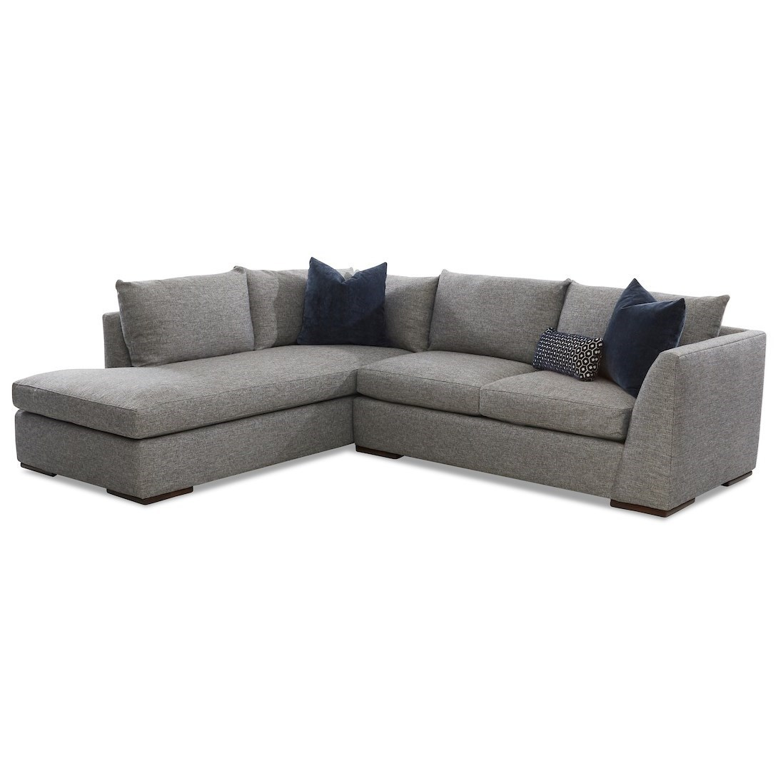 Contemporary 2-Piece Chaise Sofa with LAF Sofa Chaise