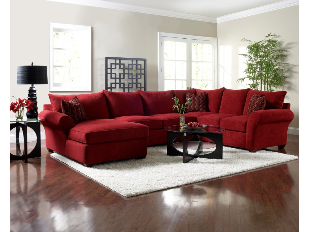 Klaussner FletcherSectional Sofa with Chaise