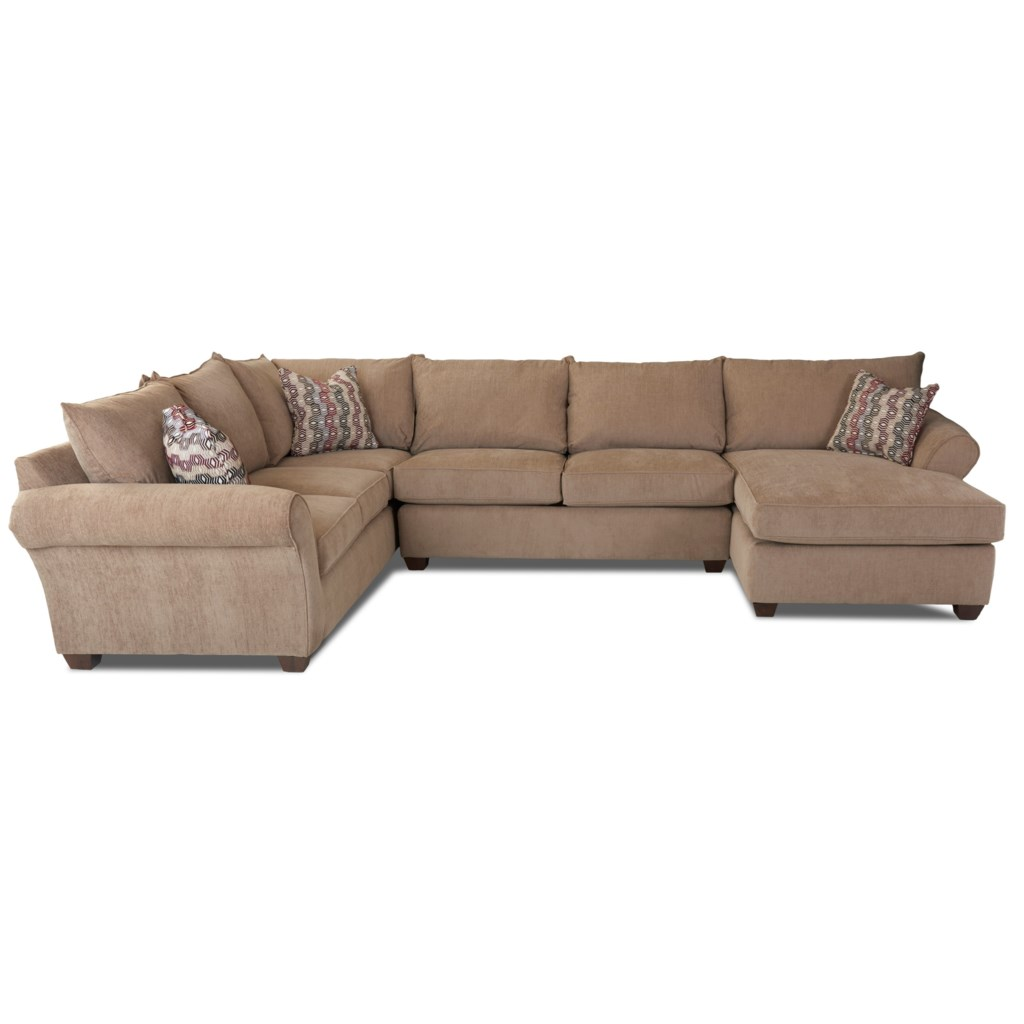 Klaussner Fletcher Transitional Sectional Sofa Sheely S  ~ What Is A Transitional Sofa