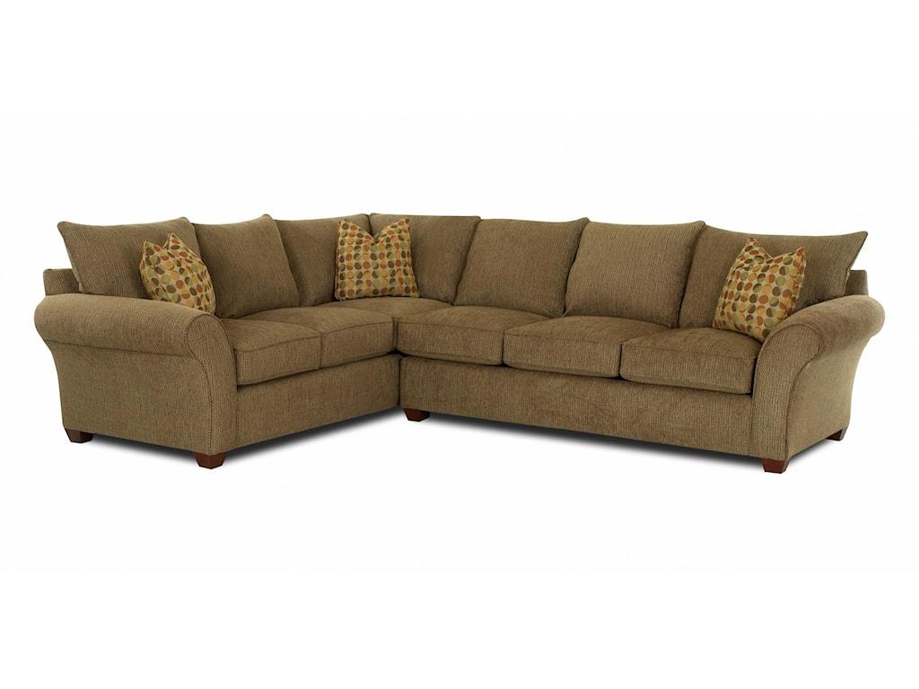 Klaussner FletcherTransitional 2 Piece Sectional Sofa