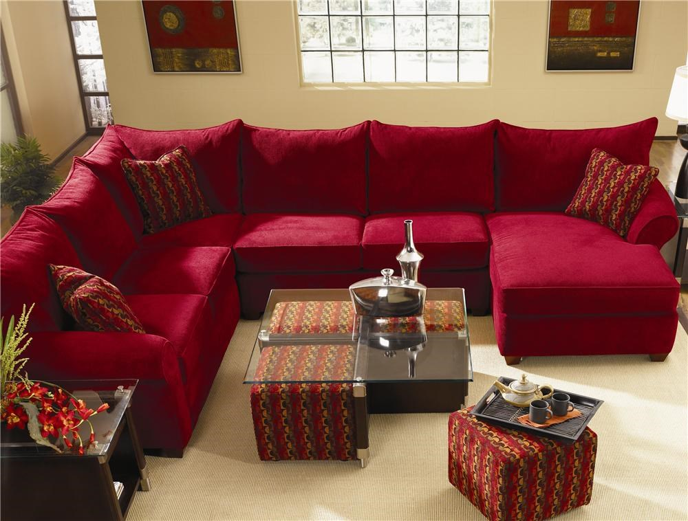 Klaussner Fletcher SECT Spacious Sectional with Chaise