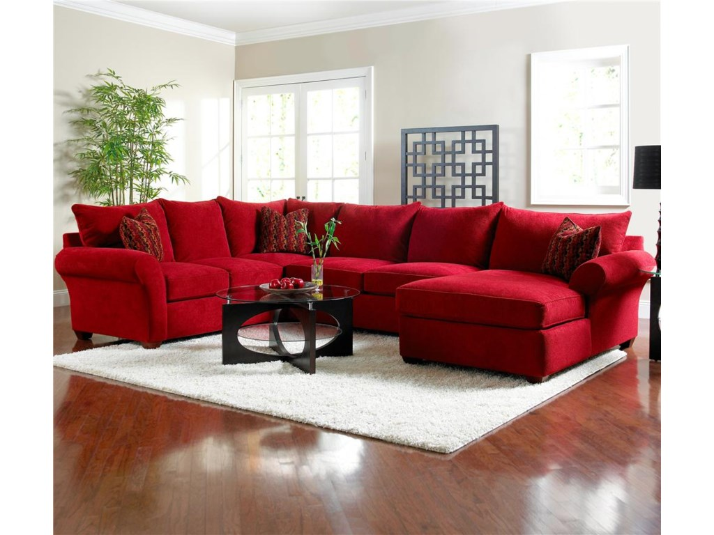 Klaussner Fletcher Spacious Sectional with Chaise Lounge - Dunk ...
