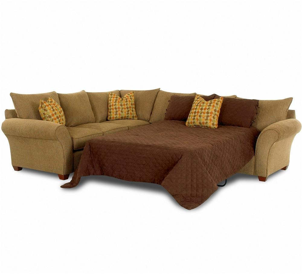 - Klaussner Fletcher Sofa Sleeper Spacious Sectional Wayside