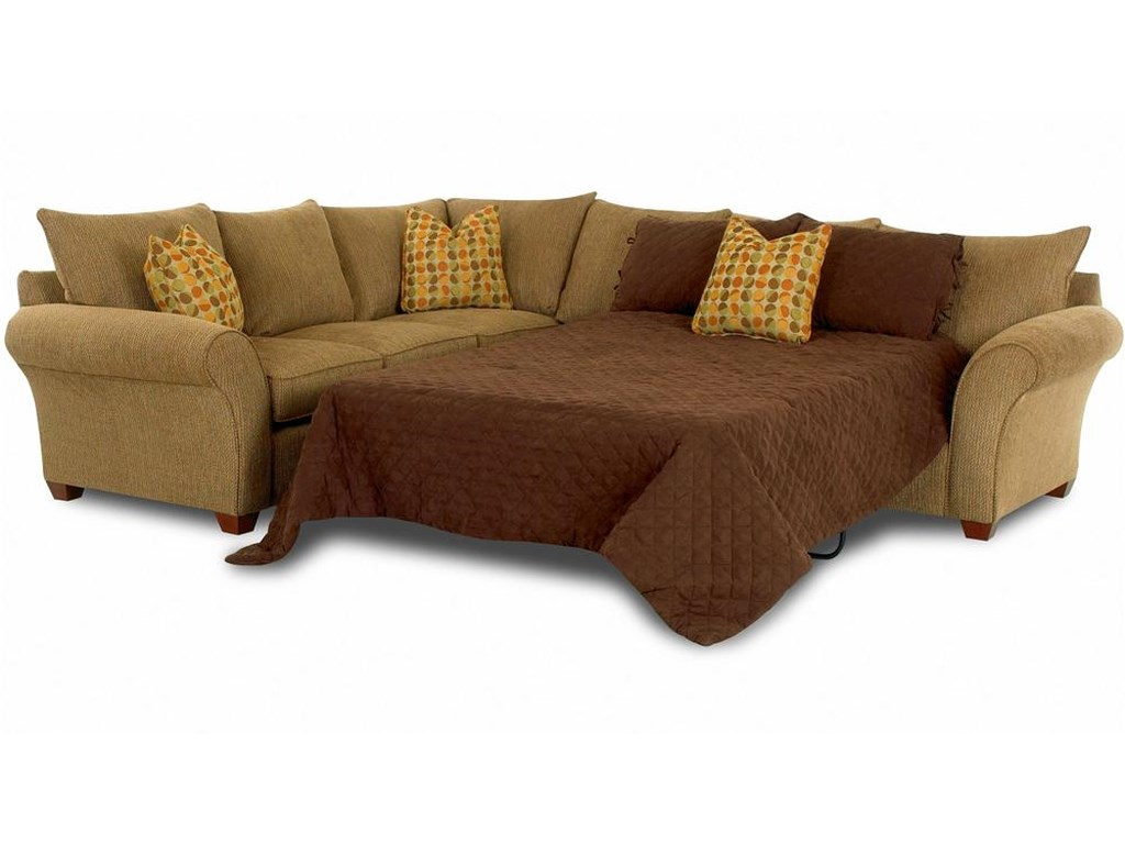 Fletcher Sofa Sleeper Spacious Sectional by Klaussner at Wayside Furniture