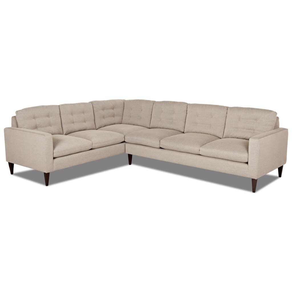 Elliston Place Florence Mid Century Modern Sectional Sofa With Left