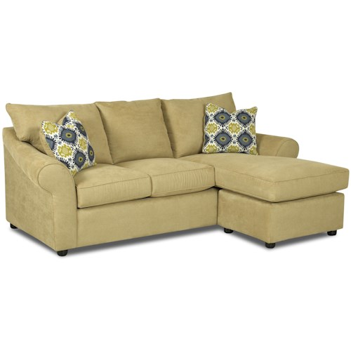 Klaussner folio sofa with reversible chaise lounge dream for Chaise lounge atlanta