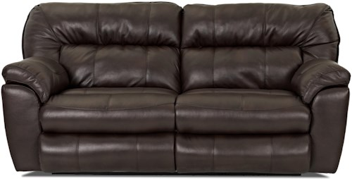 Klaussner Freeman Casual Reclining Love Seat with Pillow Top Arms