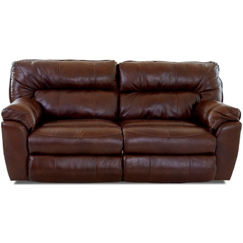Klaussner Freeman Casual Power Reclining Sofa with Pillow Top Arms